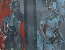 Acryl auf Papier -  60x50 - 2 Körper