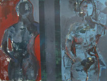Acryl - Rahmen 60x50 cm -  Zwei Körper