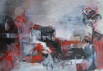 "Acryl - Rahmen - 80x60cm - ""Japanischer Garten"""