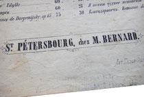Санкт-Петербург, Матвей Бернард, нотный издатель