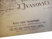 Издатель Идзиковский, Киев, старинные ноты