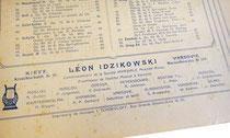 Леон Идзиковский, нотный издатель в Киеве, Крещатик, 29