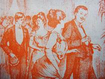 Танцоры кекуока, европейские дамы и господа