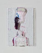 FORSCHERIN 2019 Hinterglaszeichnung, Tusche, Nagellacke, diverse Lacke  20 x 28 cm