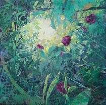 Ligusterlichtblick, 2020, Öl auf Leinwand, 60 x 60 cm