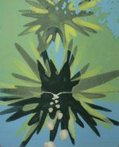 O. T., 2007/09, PVC-Folie, bemalt, 30,5 x 24,5 cm