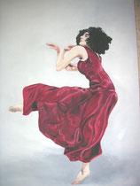 """Rote Tänzerin""   Acryl auf Leinwand    30 x 40"