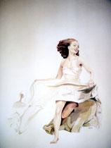 """"""" Weiße Tänzerin""""    Acryl auf Leinwand    30 x 40"""