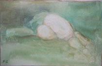 """""""grüner Akt""""    Acryl auf Leinwand     40 x 60"""