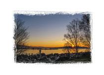 Allensbach - Sonnenuntergang über dem Gnadensee und der Insel Reichenau 3023
