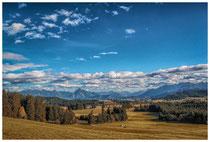 6424 Landschaft im Ostallgäu mit Blick auf die Allgäuer Alpen