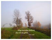 Weg mit Nebel