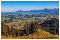 1197 Blick von der Kappeler Alp - im Hintergrund der Hopfen-, Forggen- und Weißensee