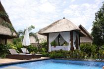 Unser Hotel auf der Insel Nusa Lembongan