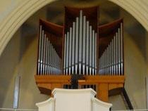 Die imposante Orgel.