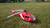 Stefan: 500er EC135 mit Fenestron von HeliRoland, mit 5S Akku nur 3,5KG Abfluggewicht