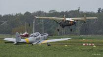 Max Holste MH.1521 Broussard (D-FMCA), De Havilland DCH-1 Chipmunk (D-ELLY), Klemm 107B (D-EJUK)