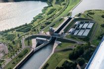 Schleuse am Abwzeig Mittellandkanal zur Elbe