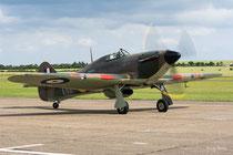 Hawker Hurricane XII - P3700 / RF-E - Duxford 2016