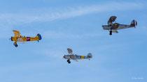 Boeing Stearman N2S-3 (D-EQXL), Focke Wulf Fw 44 Stieglitz (D-ENAY),Stampe SV-4 C (D-EQXB)
