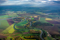 Saale-Mündung in die Elbe bei Barby