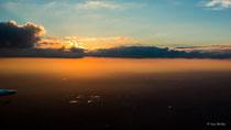 Sonnenuntergang zwischen Rotterdam und Hannover