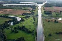 Mittellandkanal hinter der Elbe