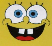 Nahaufnahme vom Spongebob-Gesicht