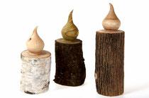 Kerzen aus Birke, Essigbaum und Flieder
