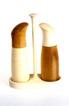 Salz und Pfeffermühle aus Kirsche - Ahorn