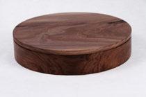 Schmuckdose mit Deckel: Holzart Nuss  Oberfläche Shellawax