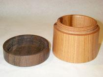Dose mit Gewinde: Holzart Kirsche/Nuss Oberfläche Drechsleröl
