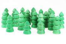 Tannenbäume Grün gebeizt