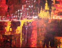 Siehst du die Griechin? , Acryl, 80 x 80 cm , 2015