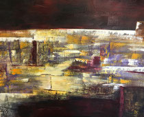 IRGENDWO , Acryl, 100 x 120 cm , 2018