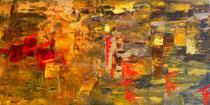 Farbimpressionen der Toskana, Acryl,60x30cm, 2011