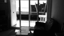 Le salon avec vue sur la Baie de Somme depuis le canapé !