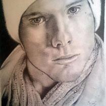 """Michael"", 2013, pencil on paper, 42 x 30 cm."