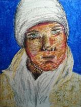 """""""Michael 4"""", 2015, oil pastel on paper, 42 x 30 cm."""