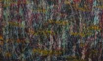 """Rainy"", 2015, acrylic paint on cardboard, 1,50 x 2,50 meters."
