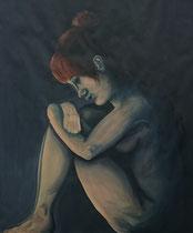 """""""Fear"""", 2015, acrylic paint on cardboard, 200 x 150 cm."""