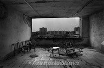 From inside the Polessia hotel. Pripyat, Zone of Exclusion (The Ukraine)