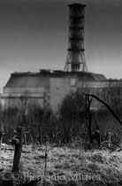 Reactor number four as seen from the old cemetery. Chernobyl, Zone of Exclusion (The Ukraine)