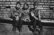 From the left: Yulia, 12 years old, Olga, 13, and Vera 12, Orphanage for handicapped children. Ivenez, Minsk (Belarus)