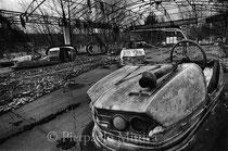 Playground, with Bumper cars. Pripyat, Zone of Exclusion (The Ukraine)