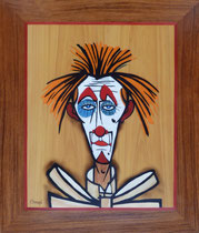 Clown sur fond jaune 1985 Bernard Buffet (330/390)
