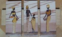 Triptyque les africaines et l'enfant (505/295)
