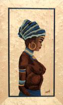 Buste africaine en bleu (250/420)