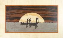 Pêcheurs du Mali au coucher du solei (345/205)