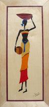 Africaine porteuse de calebasse et pot (185/295)